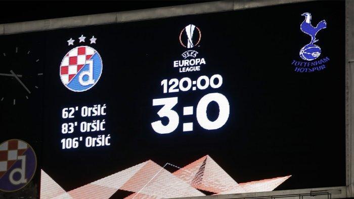 Hasil Liga Europa Dinamo Zagreb vs Tottenham Hotspur - Dinamo Zagreb menang telak 3-0 atas Tottenham Hotspur yang mengantar mereka lolos ke perempat final Liga Europa 2020-2021, Kamis (18/3/2021) malam atau Jumat dinihari WIB. Dinamo Zagreb unggul agregat 3-2