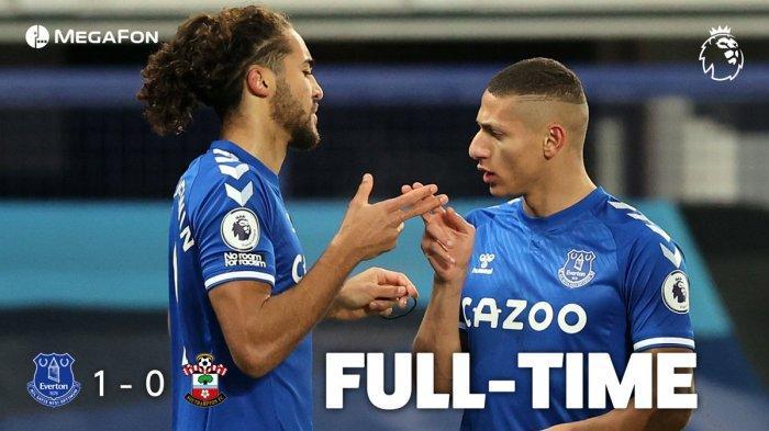Hasil Everton vs Southampton, Richarlison Cetak Gol Cepat Menit 9, Everton Menang