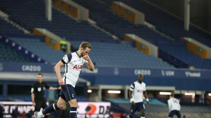 Hasil Liga Inggris Everton vs Tottenham Hotspur, Harry Kane Brace, Spurs Tahan Imbang The Toffes