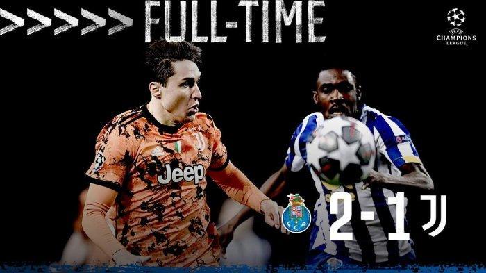 Hasil Liga Champions FC Porto vs Juventus - FC Porto menang dengan skor tipis 2-1 atas Juventus di leg pertama babak 16 besar Liga Champions 2020/2021, Rabu (17/2/2021) malam atau Kamis dinihari WIB
