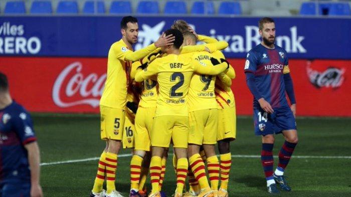 Siaran Langsung Barcelona vs Huesca Liga Spanyol Malam Ini, Kick Off 03.00 WIB via TV Online