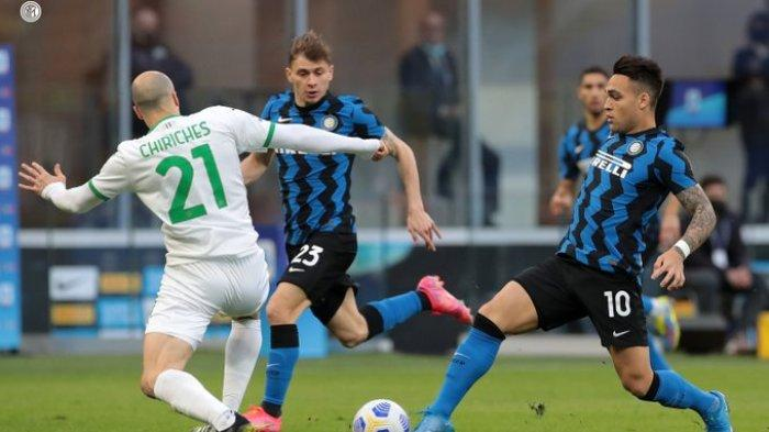 Hasil Liga Italia - Inter Milan Bungkam Sassuolo 2-1, Lukaku Cetak 1 Gol dan 1 Assist