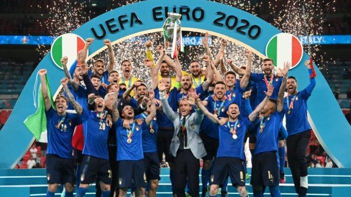 Hasil Final EURO 2020 - Tumbangkan Inggris Lewat Drama Adu Penalti, Gli Azzurri Juara