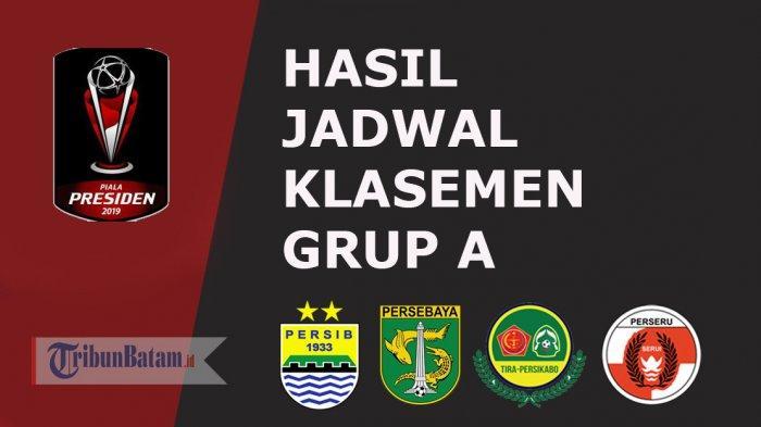 Hasil, Jadwal & Klasemen Grup A Piala Presiden 2019 Setelah Tira & Persebaya Menang, Persib Kalah