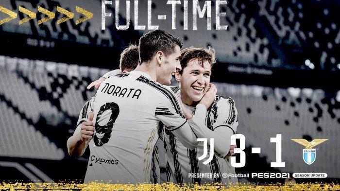 Hasil Juventus vs Lazio, Cristiano Ronaldo Cadangan, Alvaro Morata Cetak 2 Gol, Juventus Menang