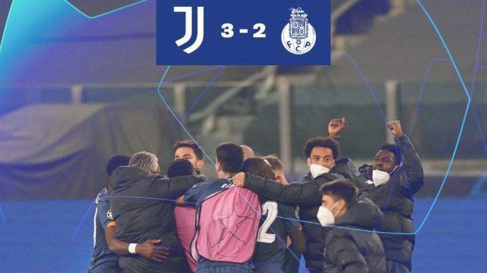 Hasil Juventus vs FC Porto, Tak Ada Gol Cristiano Ronaldo, Juventus Menang, Tapi Tersingkir