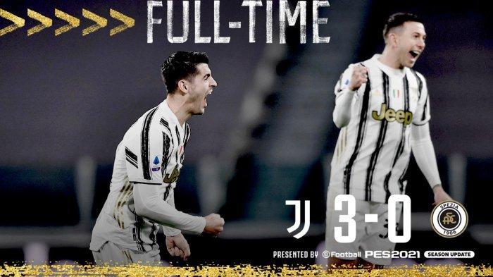 Hasil Liga Italia Juventus vs Spezia, Alvaro Morata & Cristiano Ronaldo Cetak Gol, Juventus Menang