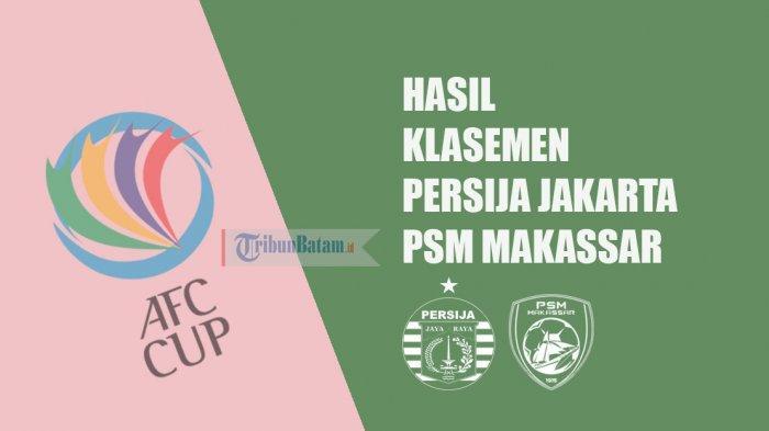 Hasil dan Klasemen Grup G & H AFC Cup 2019, Setelah Persija Jakarta dan PSM Makassar Menang