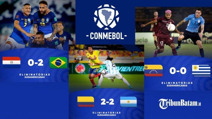 Hasil & Klasemen Kualifikasi Piala Dunia 2020 Zona Conmebol Setelah Argentina Imbang, Brazil Menang