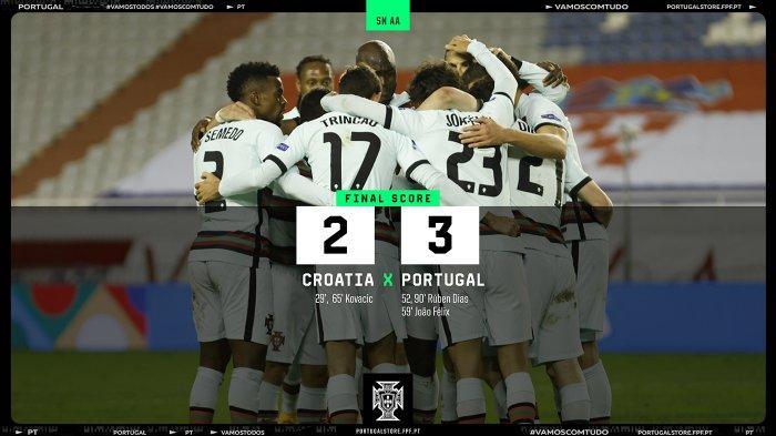 Hasil Kroasia vs Portugal, Tak Ada Gol Ronaldo, Portugal Menang Lewat Gol Ruben Diaz dan Joao Felix