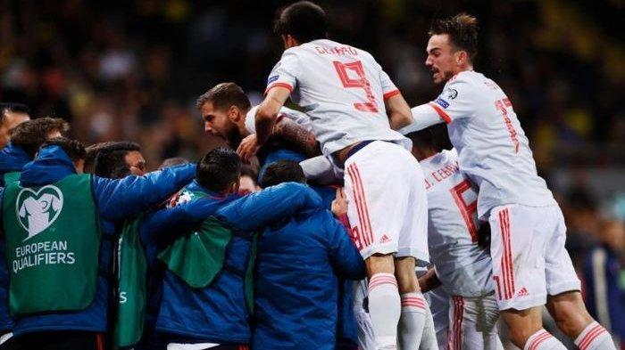 Hasil Kualifikasi Euro 2020 - Tahan Imbang Swedia, Spanyol Lolos ke Euro 2020