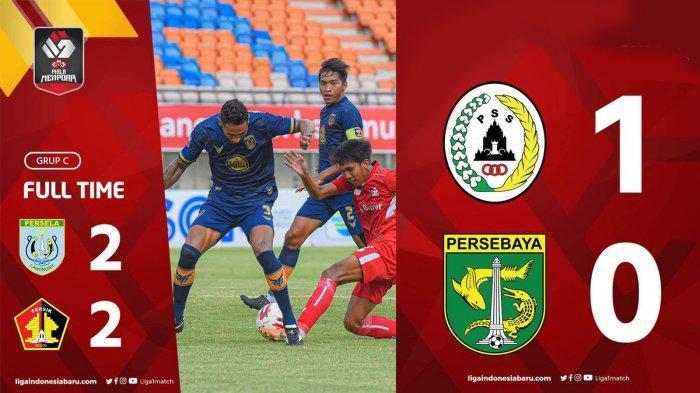 Hasil, Klasemen, Top Skor Piala Menpora 2021 Setelah Persebaya Kalah, PS Sleman Menang