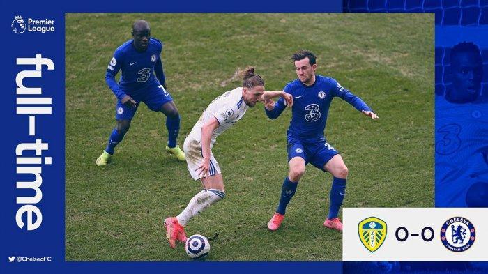 Hasil Liga Inggris Leeds United vs Chelsea - Chelsea ditahan imbang Leeds United di pekan 28 Liga Inggris, Sabtu (13/3/2021) malam WIB