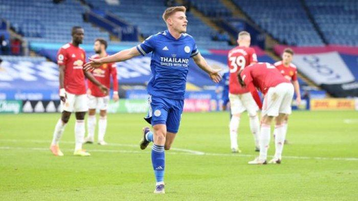 Hasil Liga Inggris - Gol Vardy Selamatkan Leicester City, Kemenangan Manchester United Sirna