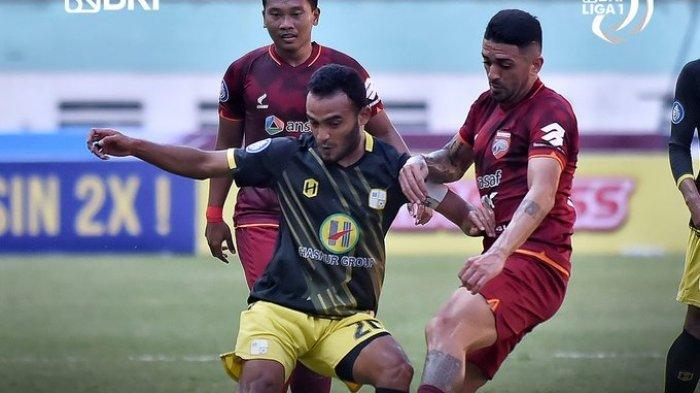 Hasil Liga 1 2021 - Borneo FC Tahan Imbang Barito Putera, Penalti Torres Selamatkan Pesut Etam
