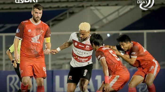 Hasil Liga 1 2021 - Madura United Ditahan Imbang PSM Makassar, Ilham Udin 1 Gol