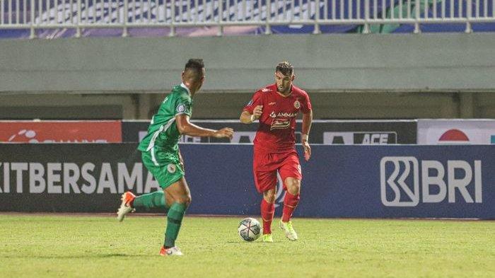 Persija Jakarta saat melawan PSS Sleman di laga perdana BRI Liga 1 2021-2022, Minggu (5/9/2021).