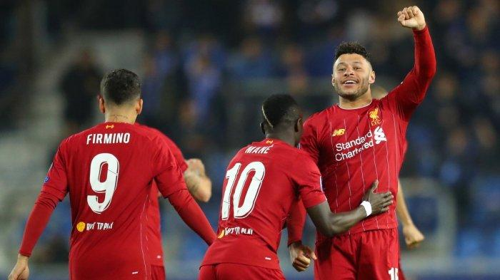 Hasil Liga Champions 2019 - Gol Oxlade Chamberlain Bawa Kemenangan Liverpool atas Genk