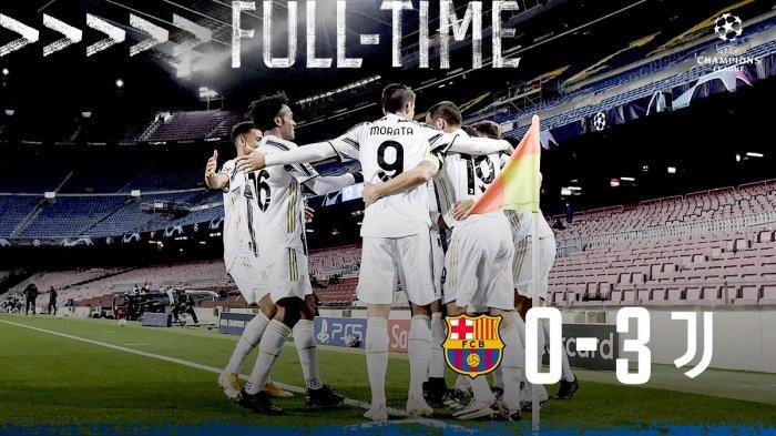 Hasil Liga Champions Barcelona vs Juventus, Cristiano Ronaldo Cetak 2 Gol Penalti , Juventus Menang