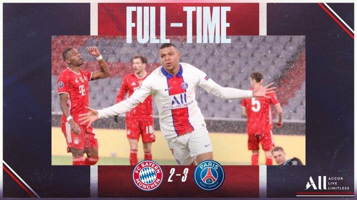 Hasil Bayern vs PSG, Drama 5 Gol di Allianz Arena, Neymar 2 Assist, Kylian Mbappe 2 Gol, PSG Menang