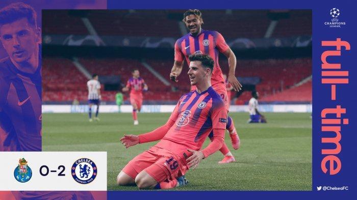 Hasil FC Porto vs Chelsea, Mason Mount & Ben Chilwell Cetak Gol, Chelsea Menang