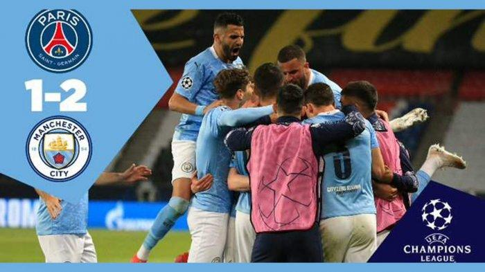 Hasil PSG vs Manchester City, Gol Marquinhos Dibalas Gol Kevin de Bruyne & Riyad Mahrez, City Menang