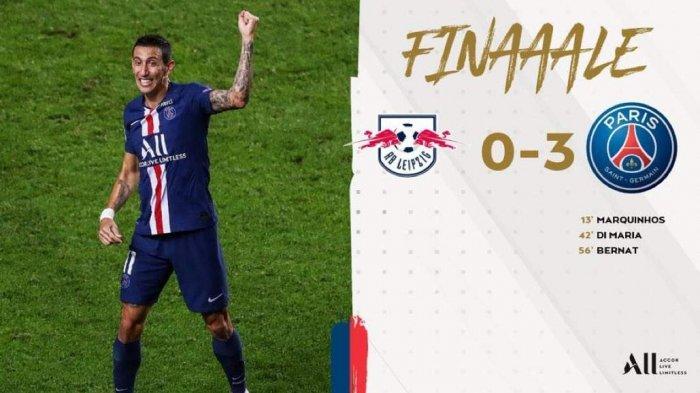 Hasil Liga Champions RB Leipzig vs PSG, RB Leipzig Tak Berkutik, PSG ke Final Lewat Kemenangan 3-0