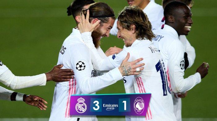 Hasil Real Madrid vs Atalanta, Benzema, Sergio Ramos, Marco Asensio Cetak Gol, Real Madrid Menang