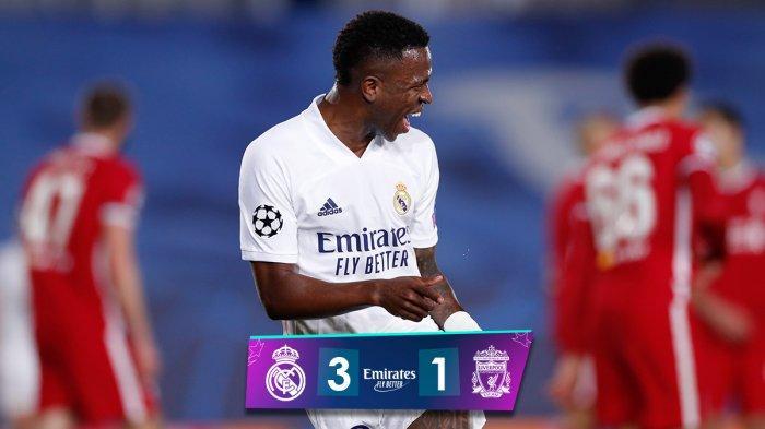 Hasil Real Madrid vs Liverpool, Vinicius Junior 2 Gol, Marco Asensio 1 Gol, Real Madrid Menang