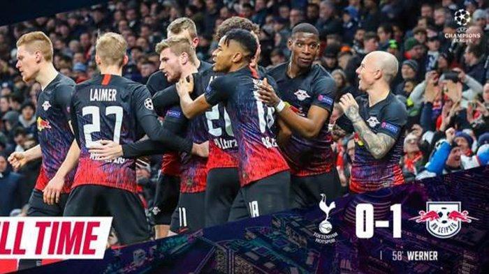 Hasil Liga Champions Tottenham Hotspur vs RB Leipzig, Gol Penalti Timo Werner Kalahkan Spurs