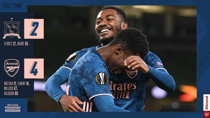 Hasil Liga Europa Dundalk vs Arsenal, Menang Lagi dalam Drama 6 Gl, Arsenal Sempurna di Liga Eropa