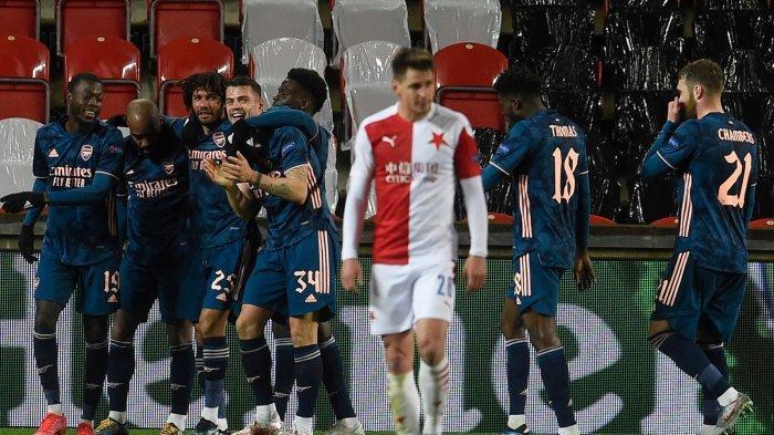 Hasil Slavia Praha vs Arsenal, Nicolas Pepe, Lacazette, Bukayo Saka Cetak Gol, Arsenal ke Semifinal
