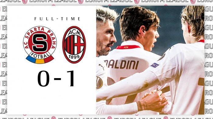 Hasil Liga Europa Sparta Praha vs AC Milan, Jens Petter Hauge Cetak Gol, AC Milan Menang, Juara Grup