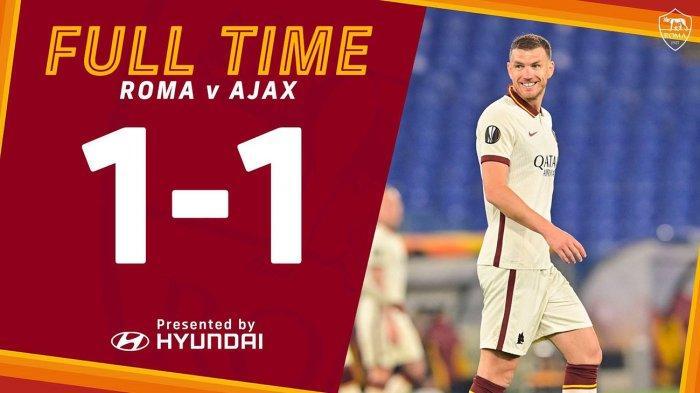 Hasil AS Roma vs Ajax Amsterdam, Edin Dzeko Cetak Gol, AS Roma Lolos ke Semifinal