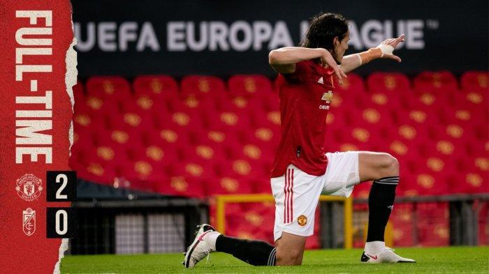 Hasil Liga Europa Manchester vs Granada - Man United menang 2-0 atas Granada pada leg 2 perempat final Liga Europa 2020-2021, Kamis (15/4/2021) malam atau Jumat dinihari WIB