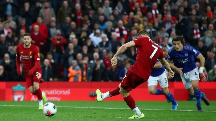 Hasil Liga Inggris 2019 - Penalti Milner Bawa Kemenangan Liverpool atas Leicester City