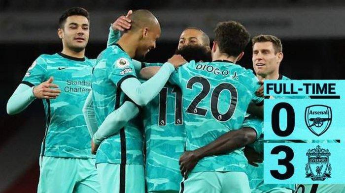 Hasil Arsenal vs Liverpool, Diogo Jota 2 Gol, Liverpool Menang di Emirates Stadium