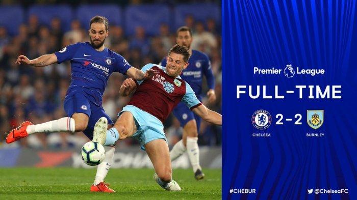 Hasil Liga Inggris Chelsea vs Burnley, Drama 4 Gol dalam 13 Menit, Chelsea Raih Hasil Imbang