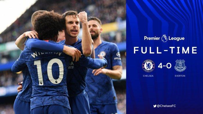 Hasil Liga Inggris Chelsea vs Everton, Everton Tak Berkutik, Chelsea Pesta 4 Gol di Stamford Bridge