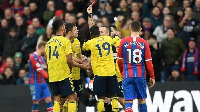 Hasil Liga Inggris - Diwarnai Kartu Merah, Arsenal Ditahan Imbang Crystal Palace