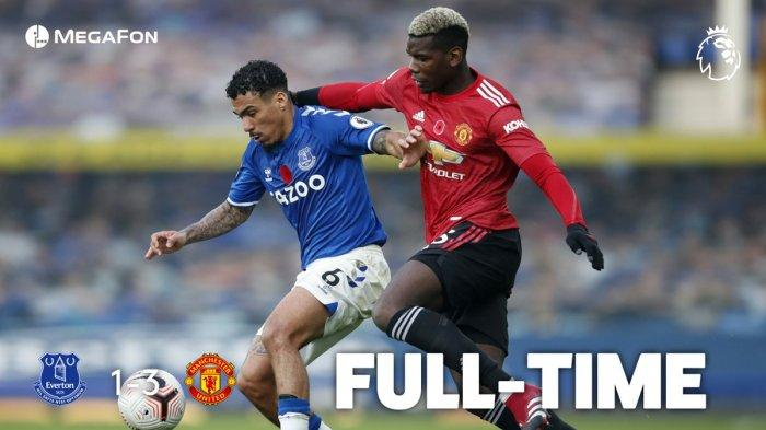 Video Gol dan Highlight Everton vs Manchester United dengan hasil akhir 1-3 untuk kemenangan MU, Sabtu (7/11/2020)