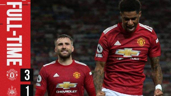 Hasil Manchester United vs Newcastle, Bruno Fernandes 1 Gol, 1 Assist, Manchester United Menang
