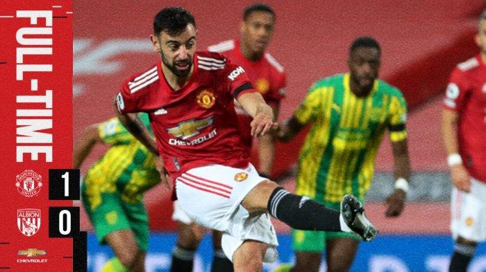 Hasil Liga Inggris Manchester United vs West Brom, Bruno Fernandes Cetak Gol Penalti Lagi, MU Menang