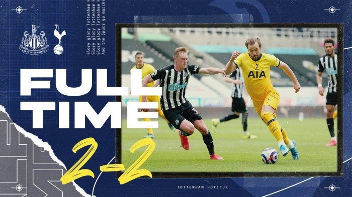 Hasil Newcastle vs Tottenham, Harry Kane Cetak 2 Gol, Tottenham Imbang Gara-gara Gol Joe Willock