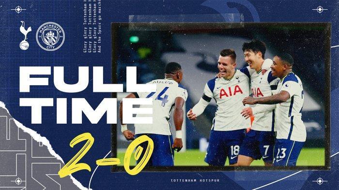 Hasil Liga Inggris Tottenham vs Man City, Son Heung-min Cetak Gol Lagi, Spurs Menang