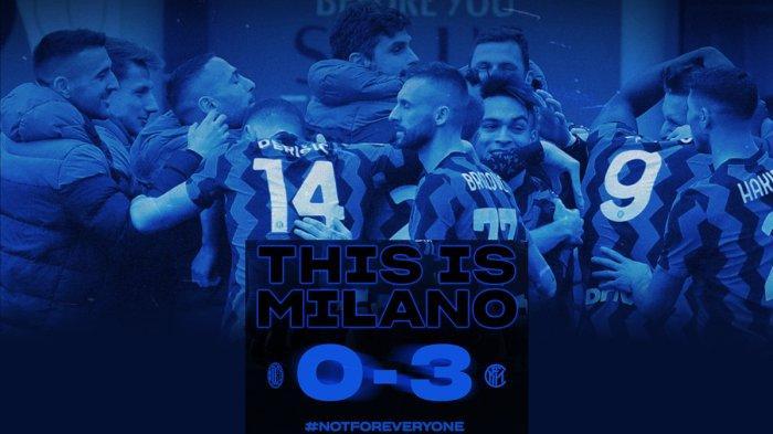 Hasil, Klasemen, Top Skor Liga Italia Setelah Inter Pecundangi AC Milan, Romelu Lukaku 17 Gol