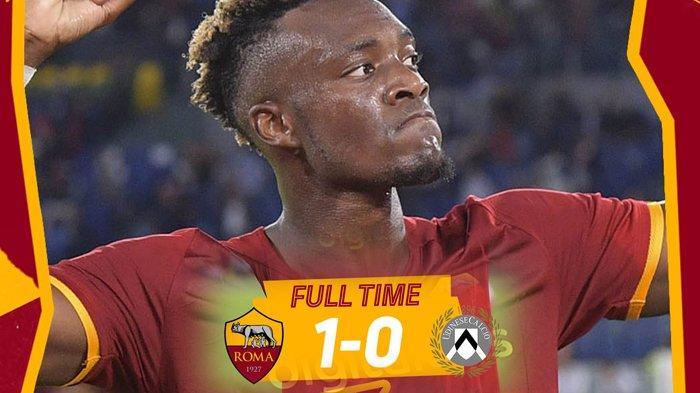 Hasil AS Roma vs Udinese, Pellegrini Kartu Merah, Tammy Abraham Cetak Gol, AS Roma Menang