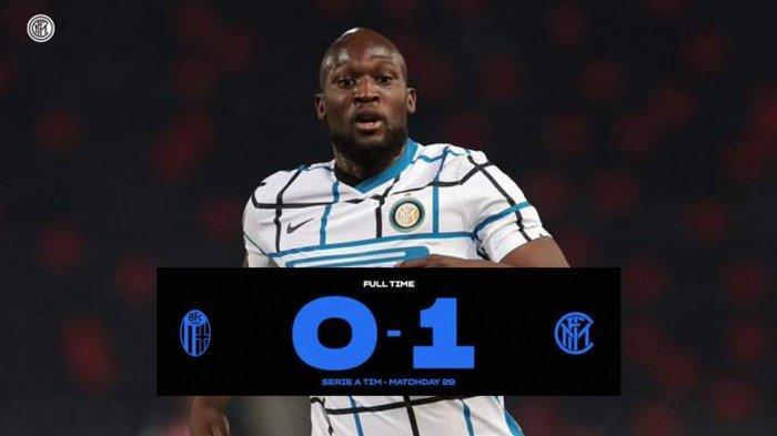 Hasil Bologna vs Inter Milan, Romelu Lukaku Cetak Gol, Inter Milan Menang