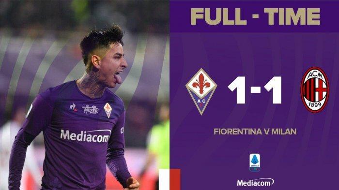 Hasil Serie A Liga Italia Fiorentina vs AC Milan, Gol Ibrahimovic Batal karena VAR, AC Milan Imbang