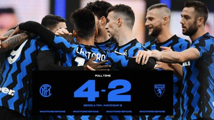 Hasil Liga Italia Inter Vs Torino Telat Panas Inter Milan Baru Cetak 4 Gol Setelah Kebobolan 2 Gol Tribun Batam
